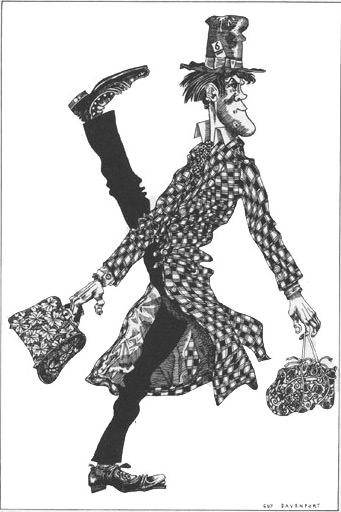 1/1 Guy Davenport's illustration of Samuel Beckett's character Watt walking