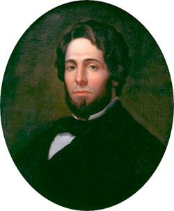 Herman Melville, painted by Asa Weston Twitchell, 1846-1847