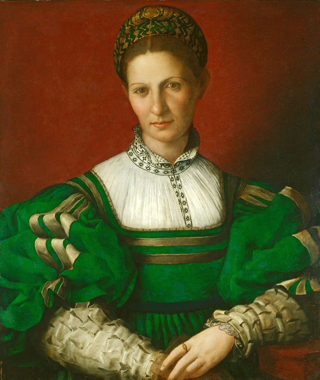 Portrait of a Lady in Green by the Italian artist Agnolo Bronzino