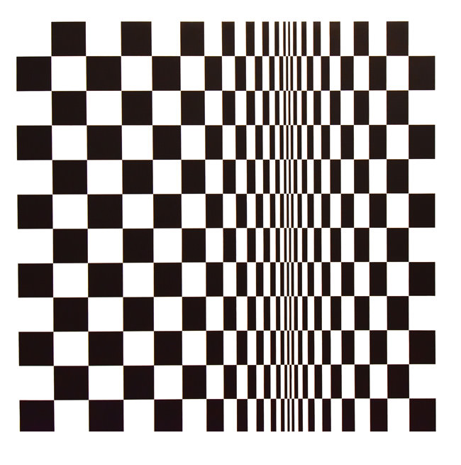 1/10 Movement in Squares by Bridget Riley, 1961
