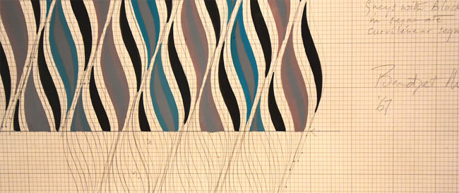 9/10 Study work by Bridget Riley, 1967
