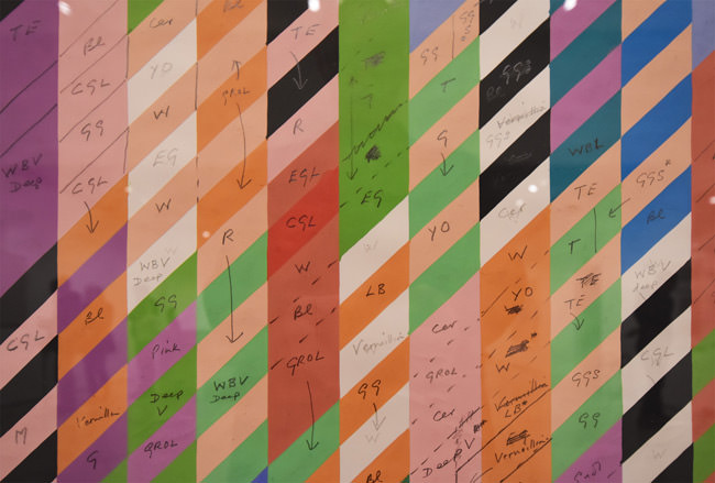 8/10 Study for stripes and diagonals by Bridget Riley