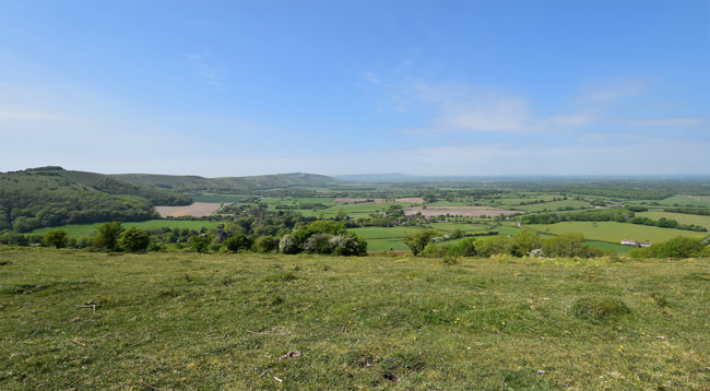 The view west from Newtimber Hill, Sussex