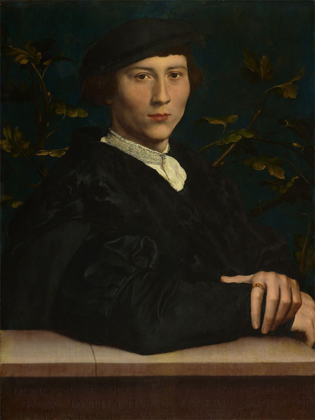 Portrait of Derich Born by Hans Holbein the Younger