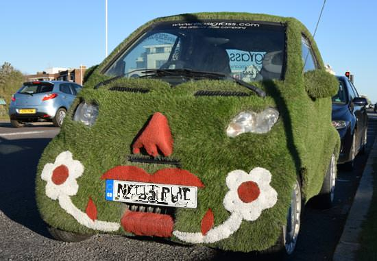 Artificial grass car in Worthing