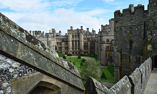 Arundel Castle - inside the keep