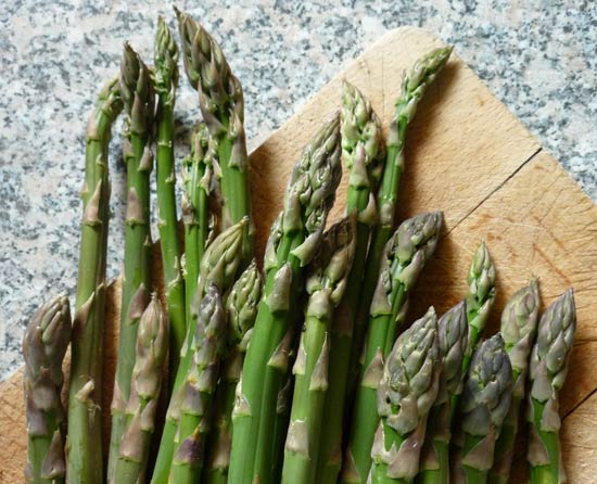 Asparagus ready to be cooked.
