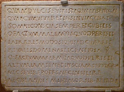 An engraved plaque from the modestly-sized Le Musée des Jacobins in Auch
