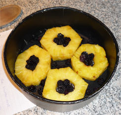 The upside-down cake fruit