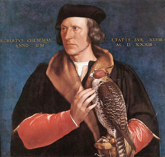 Portrait of Robert Cheseman by Hans Holbein