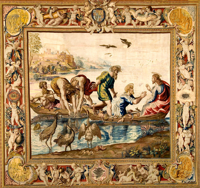 Mortlake tapestry after Raphael, the miraculous draught of fishes, 1636-37