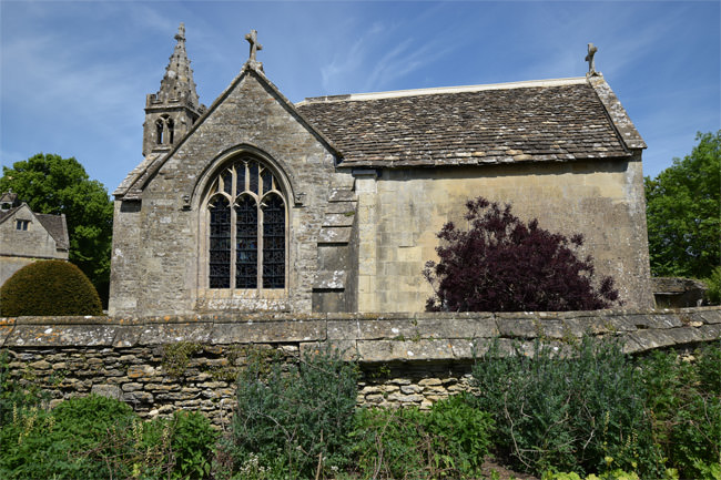 13/16 The south window of the Church of All Saints at Chalfield Manor