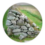 10/12 Arnol Blackhouse number 42, Isle of Lewis - a barrier separating animals from people
