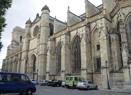The south facade of Auch Cathedral