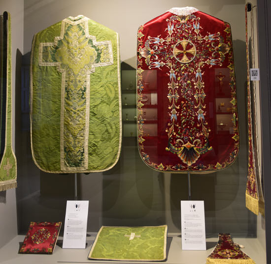 One of the displays of ecclesiastical treasures