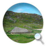 Bostah Iron Age Village, Great Bernera, Isle of Lewis, CE 400 - 800, reconstructed