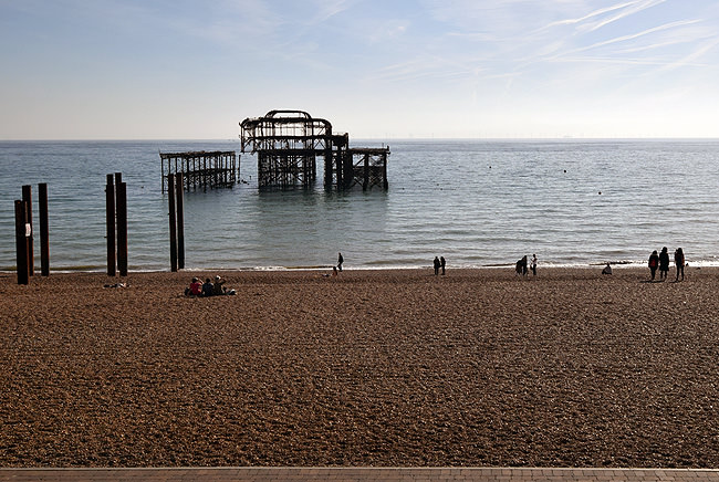 The remains of Brighton's 1866 West Pier viewed from the base of the i360
