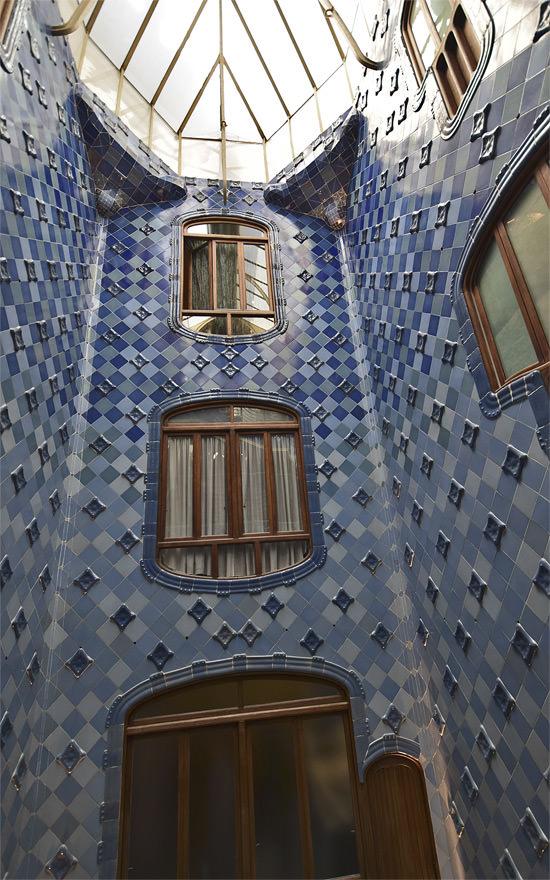 Casa Batlló's tiled atrium
