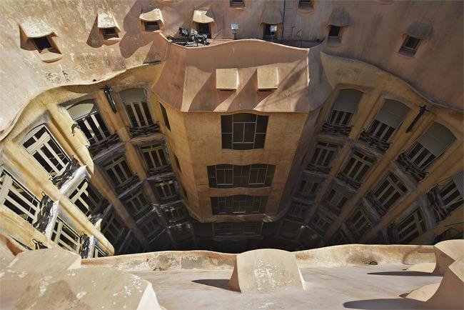 8/13 One of La Casa Milà's ventilation courtyards