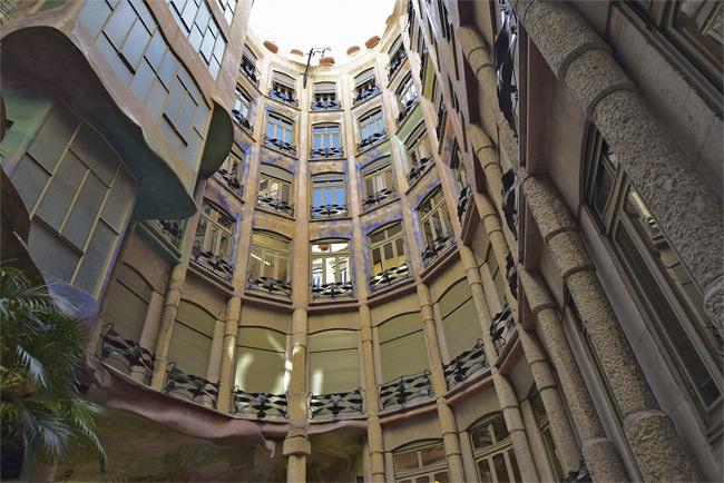 4/13 One of La Casa Milà's ventilation courtyards