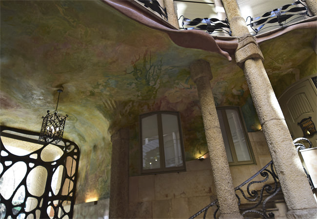 6/13 One of La Casa Milà's ventilation courtyards