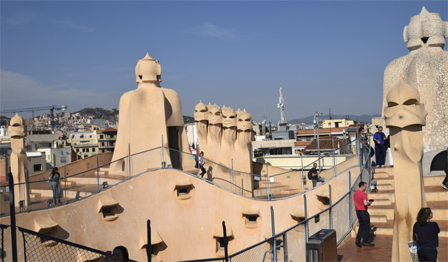 La Casa Milà's roof terrace