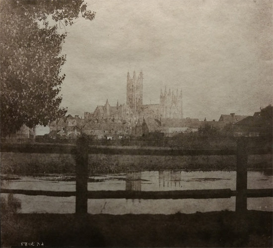 The 1845 calotype negative Fox Talbot took of Canterbury Cathedral