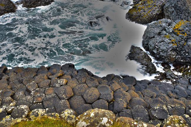 1/11 Basalt blocks on the shoreline of the Giant's Causeway