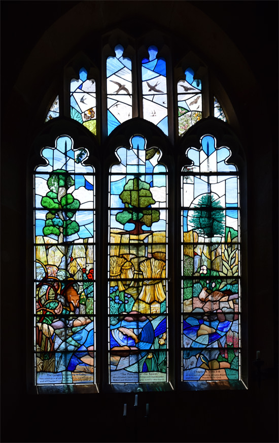 All Saints Parish Church - Great Chalfield - The Parable of the Sower stained glass window
