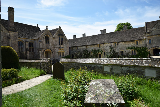 16/16 Great Chalfield Manor viewed from All Saints Parish Church