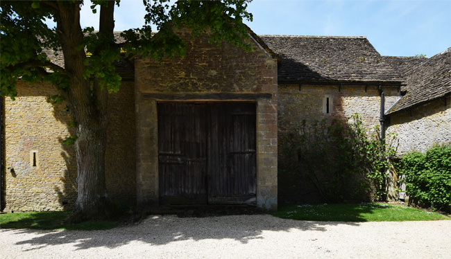 Great Chalfield's south barn, dated 1752
