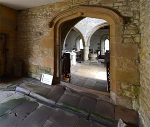 The Norman entrance to Haddon's St. Nicholas Chapel