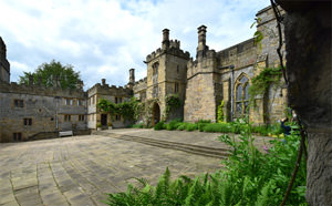Haddon Hall's lower courtyard