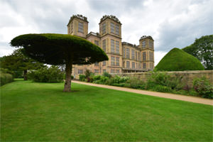 The east façade of Hardwick Hall