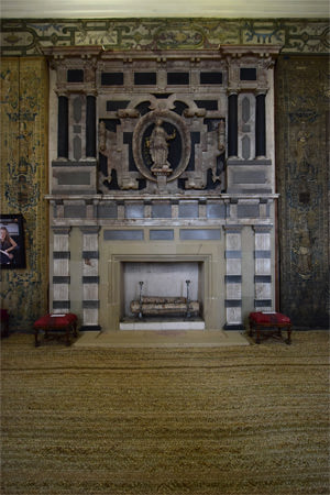 The alabaster chimney-piece in Hardwick's Long Gallery