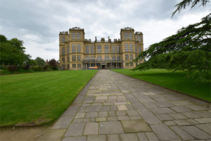 The west façade of Hardwick Hall