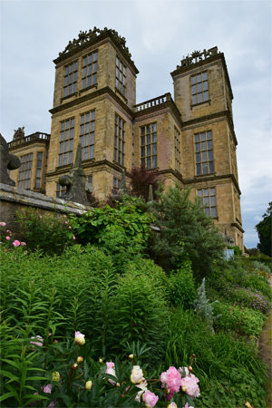 Parapets and towers of Hardwick Hall