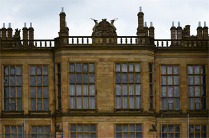 The west façade of Hardwick Hall, detail