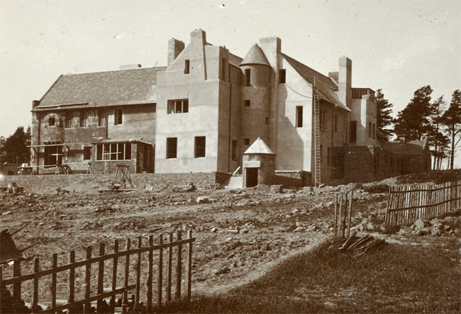 The Hill House under construction
