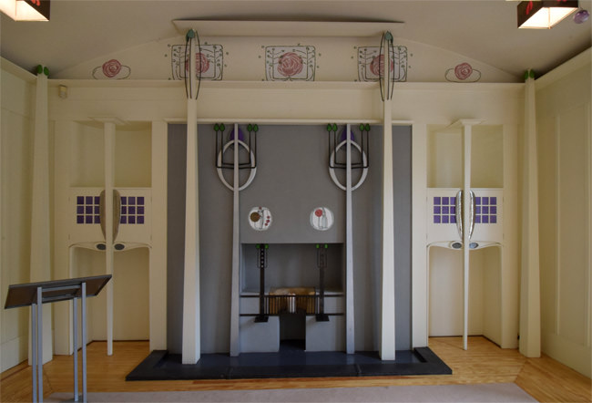 The House for an Art Lover, the music room fireplace