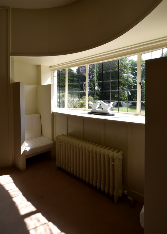 15/15 The House for an Art Lover, the oval room window seat