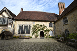 8/16 Ightham Mote's courtyard, looking east