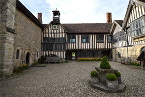 Ightham Mote's courtyard, looking north