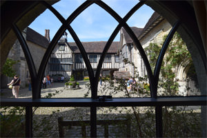 Looking into Ightham Mote's courtyard