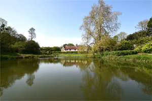 6/16 Ightham Mote from south of its lower pond