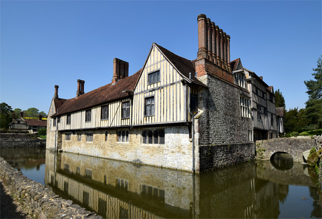 1/16 Ightham Mote from the south-east