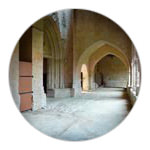 The Gothic cloisters at La Romieu