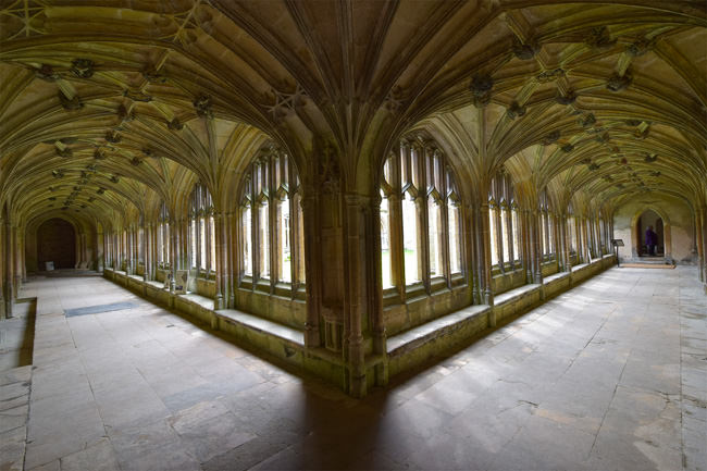 The Abbey's east and north cloister walks