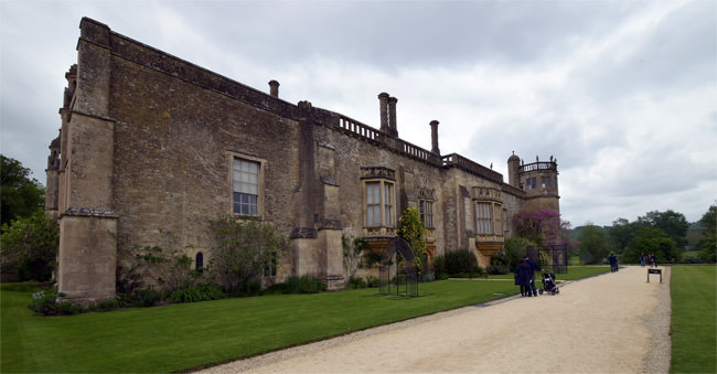 South façade of Lacock Abbey