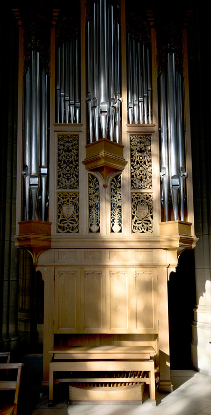 Lancing College Chapel - north-east (Frobenius choir) organ
